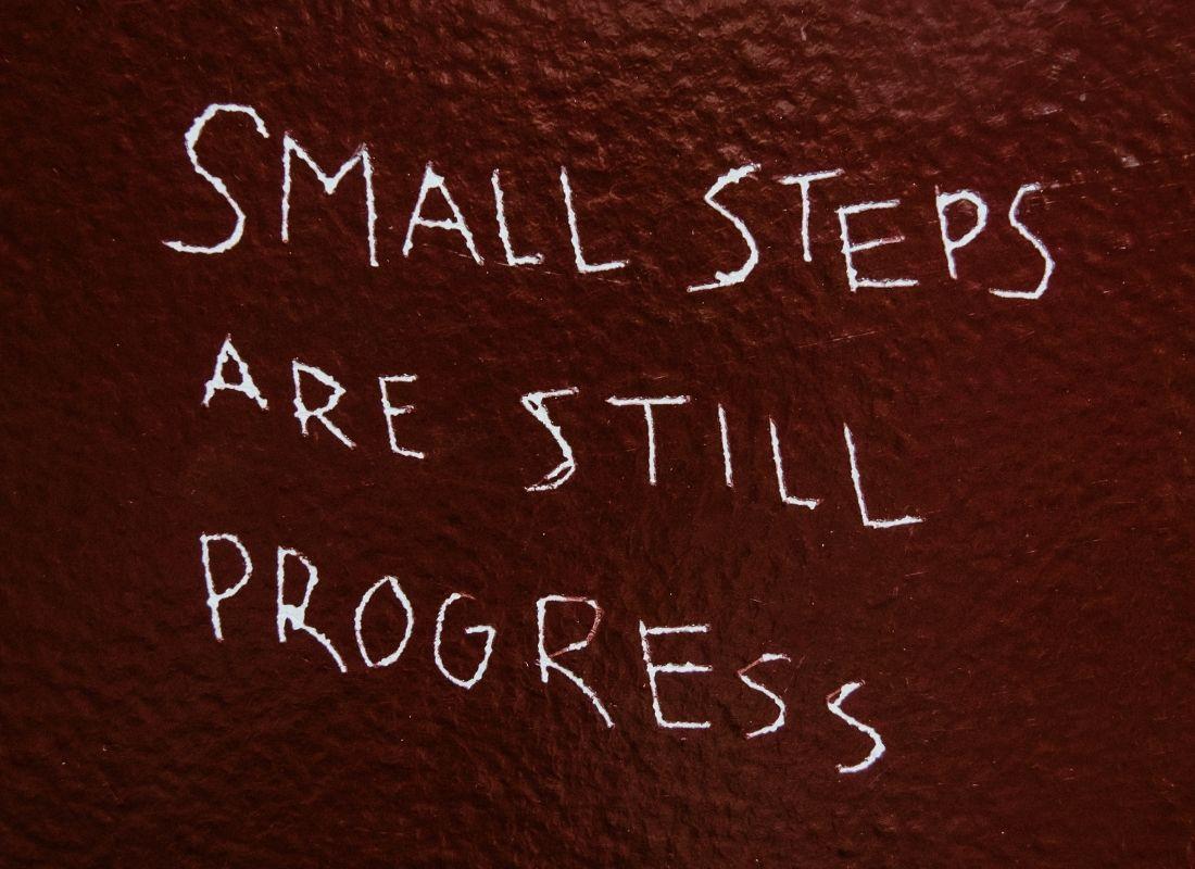 small steps are still progress quote